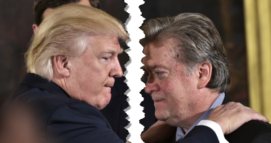 "Furious Trump Responds To ""Pretender"" Bannon: ""He Has Lost His Mind"""