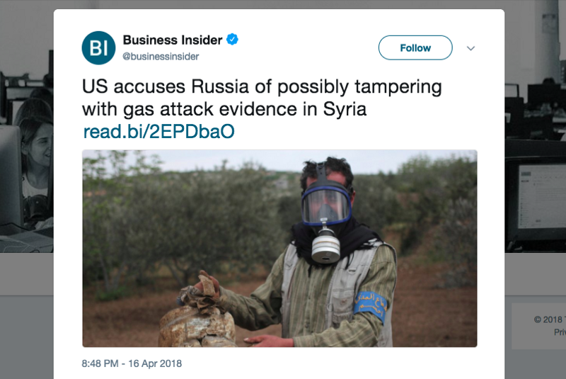 US Says Russia 'Hacked' Syrian Attack Evidence As Russia Finds Rebel Chemical Weapon Lab