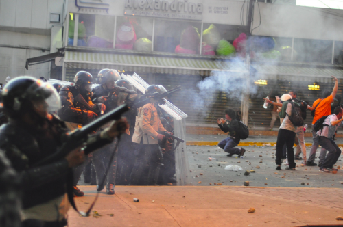 Socialist Dystopia: Venezuelans Assaulted By Police Outside Socialist Health Ministry