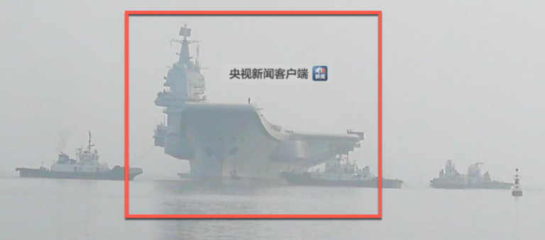 China's First Domestically-Built Aircraft Carrier Begins Sea-Trials