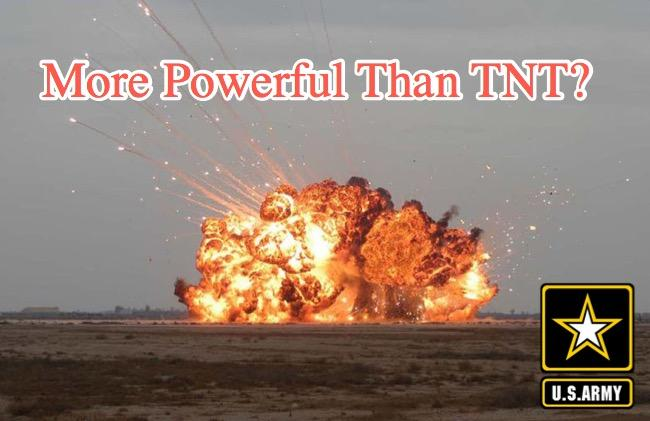 """US Army Discovers New Explosive Material – """"More Powerful Than TNT"""""""