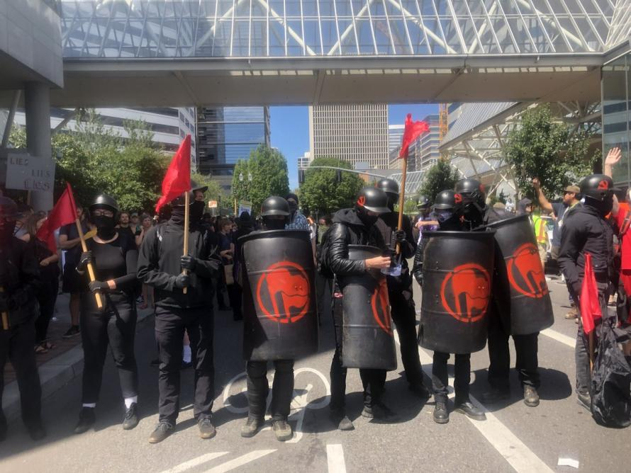"""Civil Disturbance"" Declared After Portland Riot Cops Use Flash Grenades On Antifa"