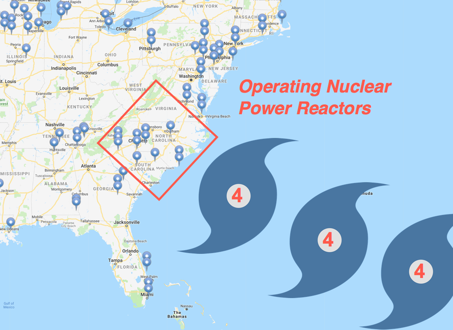 Nuclear Power Plants At Risk Of Direct Hit By Hurricane Florence