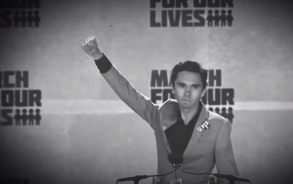 Hypocrite David Hogg marches in protest against NRA alongside his own personal armed guards