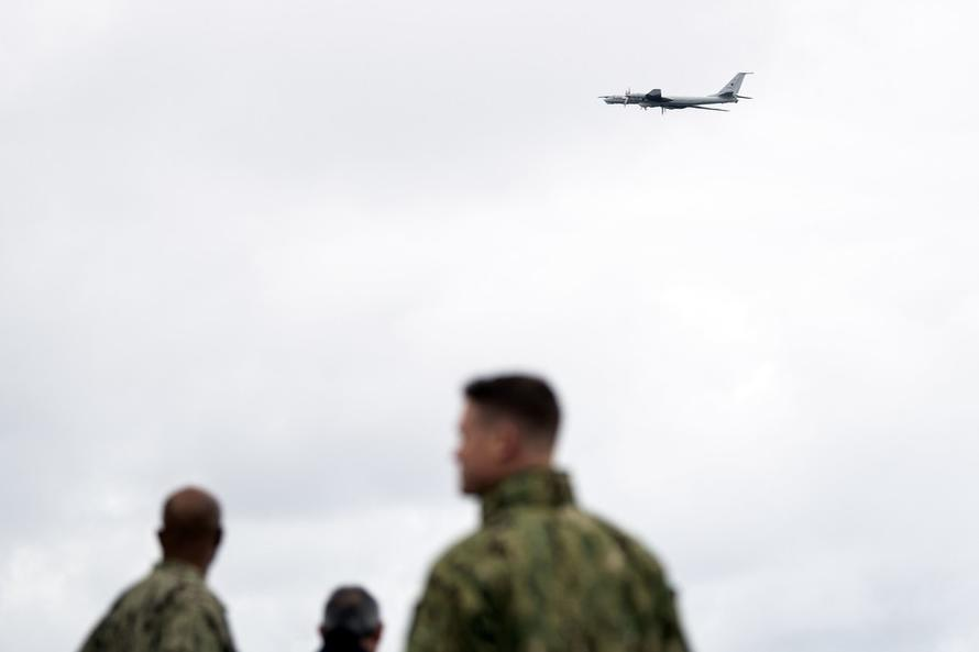 Russian Bomber Makes Provocative Flyover Of U.S. Command Ship During NATO War Games